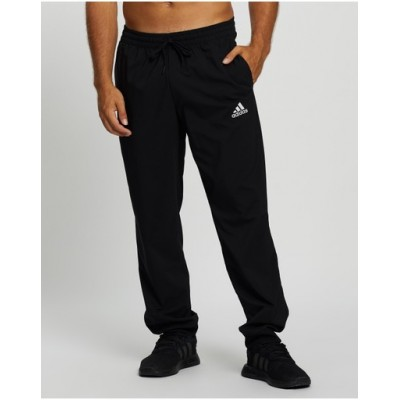 adidas Performance Men's Essentials Stanford Tapered Cuff Embroidered Small Logo Pants Black - Pants business casual XHNRBLR