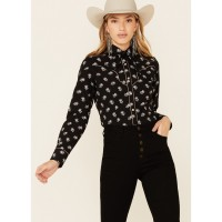 Rock & Roll Denim Women's All-Over Floral Print Long Sleeve Snap Western Core Shirt Recommendations 7PVBT4613