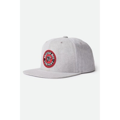 Brixton Men's Forte Crossover MP Snapback GREY for Men Recommendations VGCMHSO