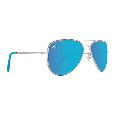 Blenders Blue Angel Sunglasses SILVER / BLUE MIRROR for Men Recommendations ZACPZRQ