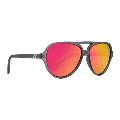 Blenders Iron Lilly Sunglasses MATTE GREY / POLARIZED PINK for Men HYFTOXC