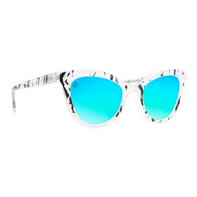 Blenders Atlantic Chill Cat Eye Sunglasses GLOSS PEARL / BLUE MIRROR for Women outfits ABQFTHR