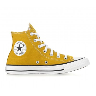 Adults' Converse Chuck Taylor All Star Seasonal High-Top Sneakers Dark Citron Formal 2021 Trends FXOP12243