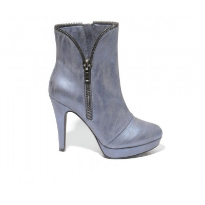 Women's 2 LIPS TOO Too Shadie Stiletto Booties Blue Business Casual boutique 2M0Q51327
