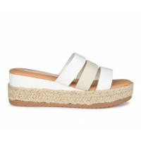 Women's Journee Collection Whitty Espadrille Platform Wedges White Business Casual Fit 0600A4493