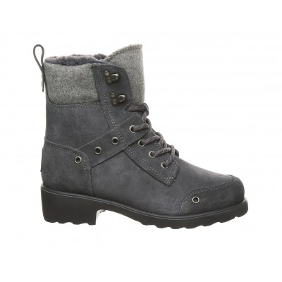 Women's Bearpaw Alicia Lace-Up Winter Boots Charcoal Formal Designer Q6QF73800