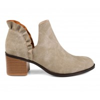 Women's Journee Collection Lennie Side Slit Booties Stone Business Casual Hot Sale 9TAVT5806