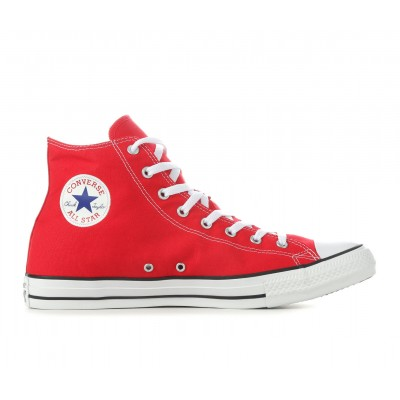 Adults' Converse Chuck Taylor All Star Canvas High-Top Sneakers Red on style U13K98707