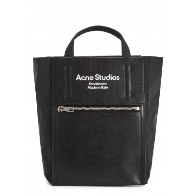 Acne Studios Women's Baker Out mini nylon and leather top handle bag on clearance ZZMSRFT