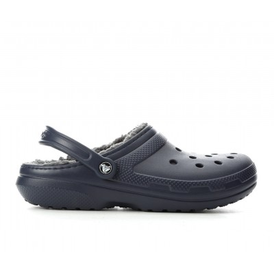 Adults' Crocs Classic Lined Clogs Navy/Charcoal Formal new look J49OK9059