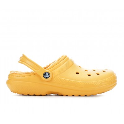 Adults' Crocs Classic Lined Clogs Orance Sorbet lifestyle Z1ITP9642