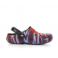 Adults' Crocs Classic Lined Tie Dye Clogs Multi/Black Going Out H8VTZ8338