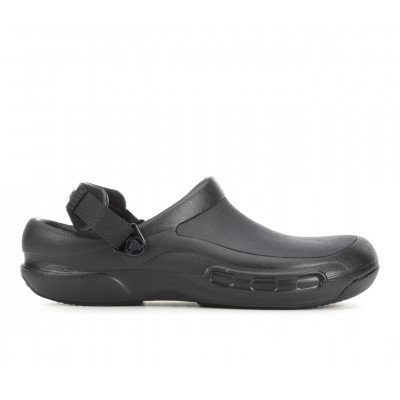 Adults' Crocs Work Bistro Pro LiteRide Slip-Resistant Clogs Black/Grey Business Casual Business Casual 1F63N8906