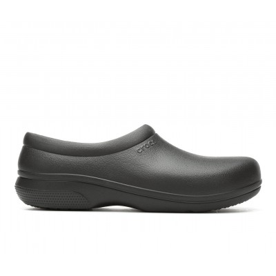 Adults' Crocs Work On the Clock Slip-Resistant Clogs Black Formal Collection 15A2E3307