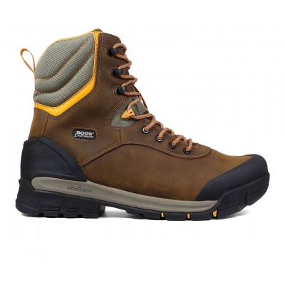 """Men's Bogs Footwear Bedrock 8"""" Comp Toe Insulated Work Boots Brown Multi Going Out spring 2021 2IFX94340"""