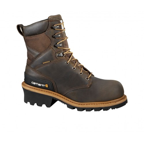 Men's Carhartt CML8360 Logger Composite Toe Work Boots Crazy Horse Going Out The Best Brand DNT088578