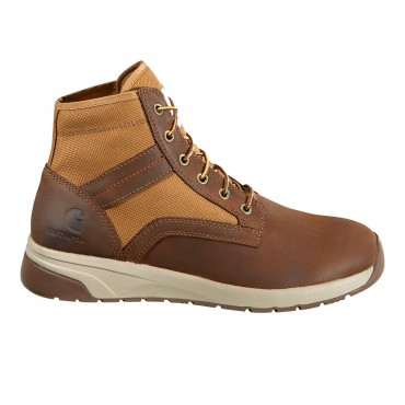Men's Carhartt Force Nano-Composite Toe Work Boots Brown Leather Going Out 4ZCUH1387