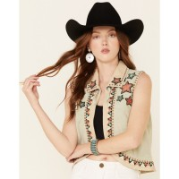 Double D Ranch Women's Song Of The West Suede Vest Selling Well 2MDY42501