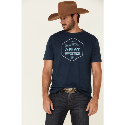 Ariat Men's Blue Made To Last Graphic T-Shirt for sale near me SVBVG137