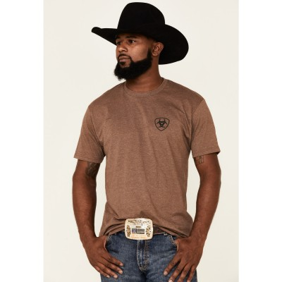 Ariat Men's Brown Buck Up And Bring It Graphic Short Sleeve T-Shirt Fitted 2FPFW4104