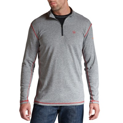 Ariat Flame Resistant Polartec 1/4 Zip Baselayer Pullover - Big and Tall Designer Sale 1EJDP1080