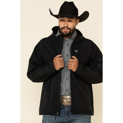 Ariat Men's Black Vernon Hooded Softshell Jacket The Top Selling V0G4A6487